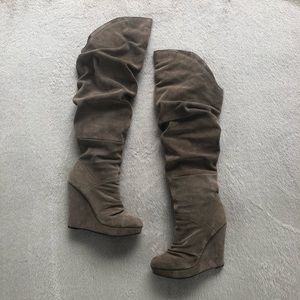 ✨ Taupe Suede Over the Knee Boots ✨